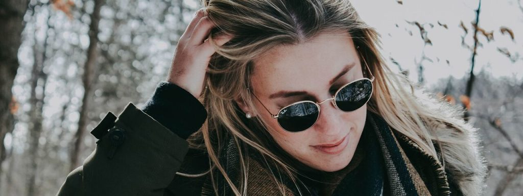 Woman Sunglasses Outdoors Winter 1280x480